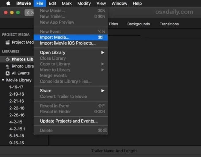 How to Convert MOV to MP4 with iMovie?