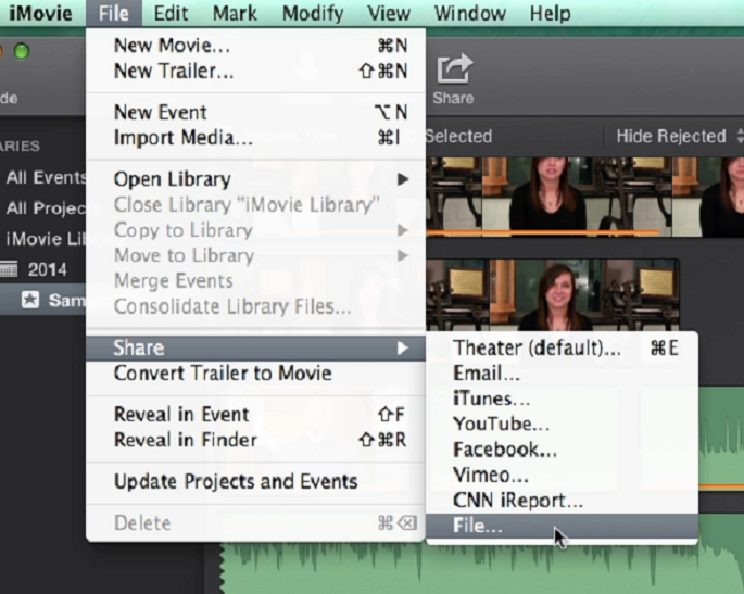 how to change imovie to mp4