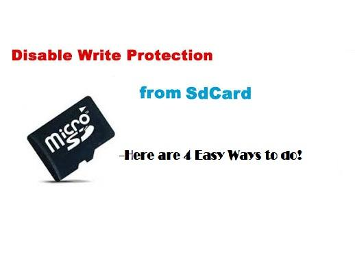 How to Disable Write Protection in SD Card?