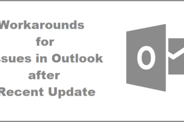 fix outlook problems caused by recent office updates