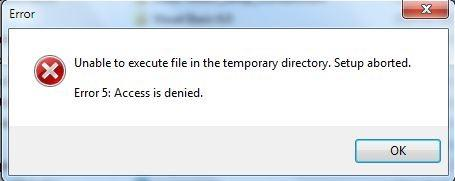 Fix Error Unable to execute File