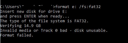 Fix Track 0 Error