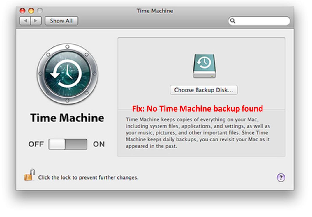Mac Time Machine Fix