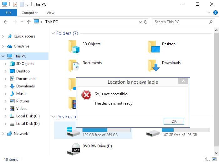 Fix Device not ready error