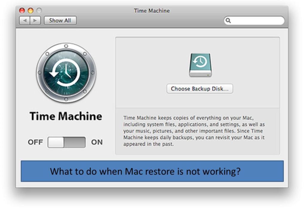 Mac Time Machine not Working