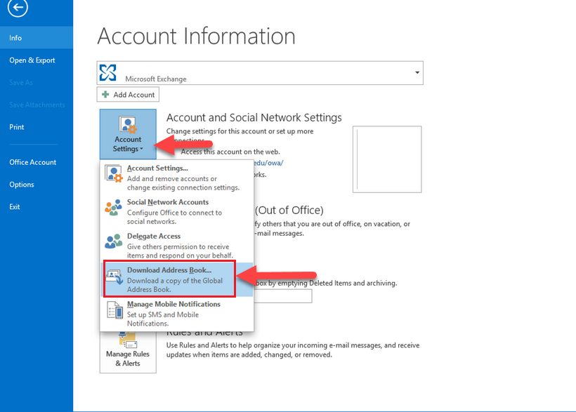how to fix Outlook Meeting issues download Address book