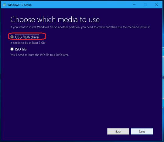 select-usb-flash-drive