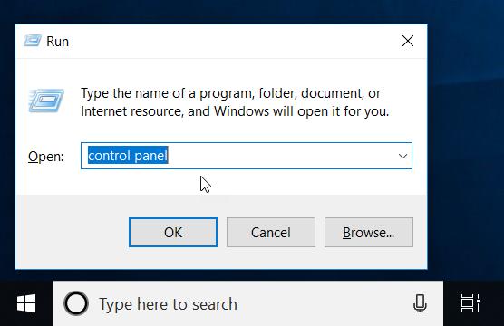 Solve USB error open Control Panel