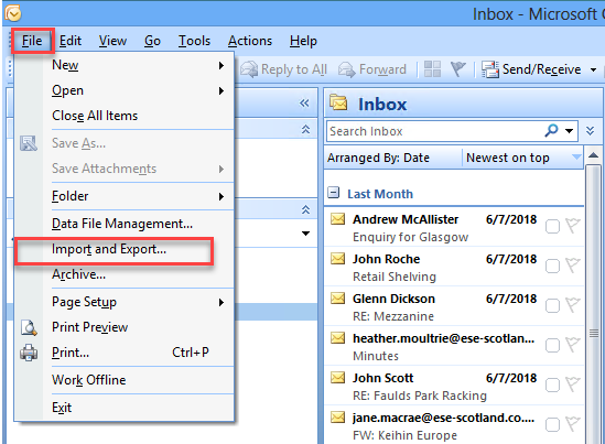 click on the Outlook file option to convert PST to OST