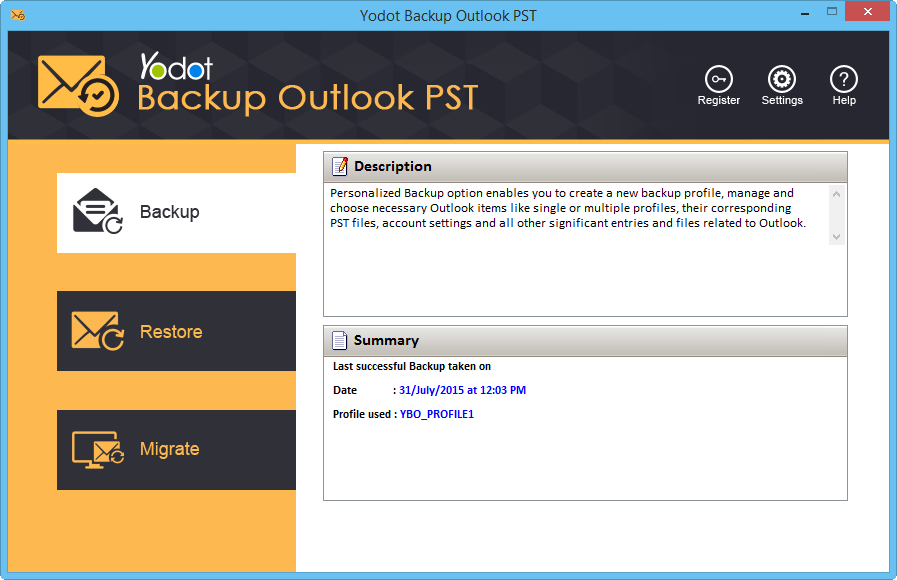 Yodot Outlook Backup and Migrate