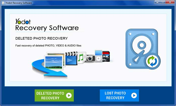 Select Deleted File Recovery option