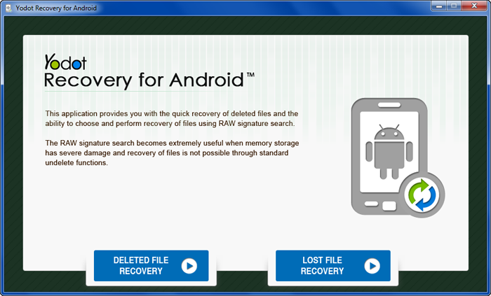 Windows 7 Yodot Recovery for Android 1.0.0.3 full