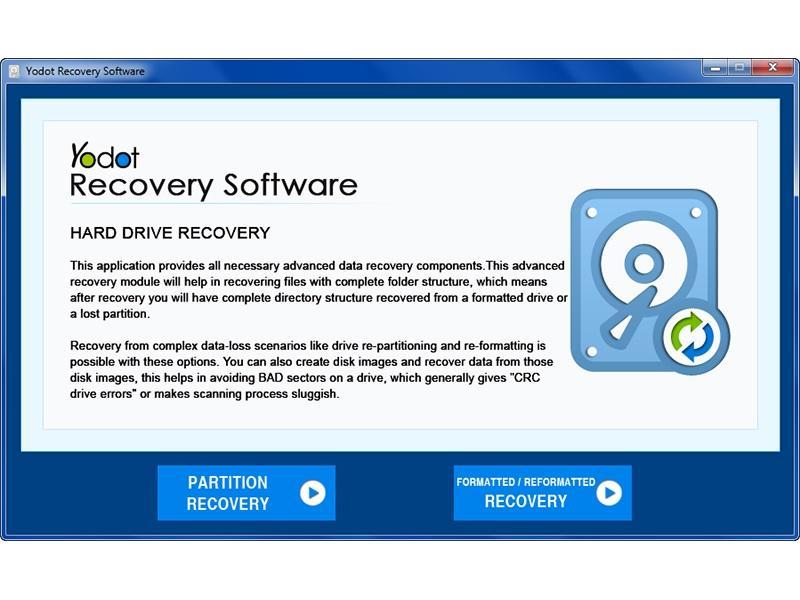 Yodot Hard Drive Recovery full screenshot