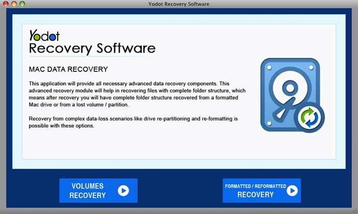 Yodot Mac Data Recovery full screenshot