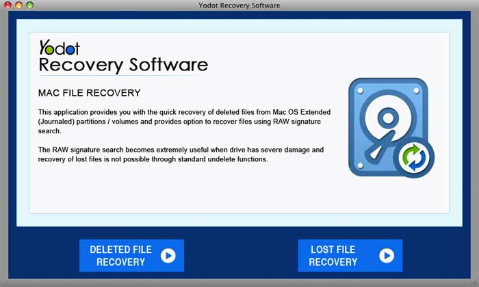 Free download Yodot Mac File Recovery Software