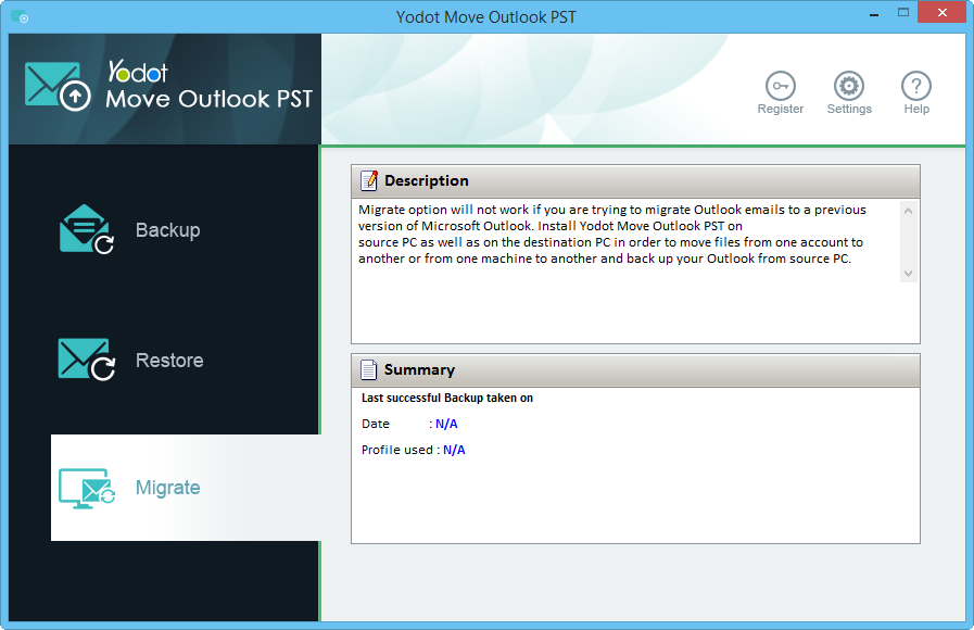 Yodot Move Outlook PST
